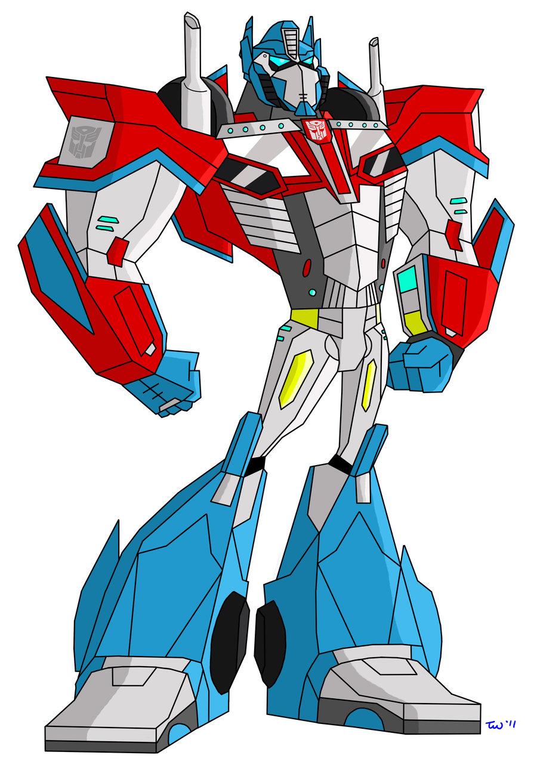 Optimus Prime Transformer Clip Art.