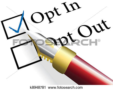 Clipart of Pen check choose Opt In choice option k8948781.