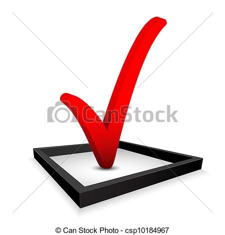 Clip Art Vector of Check mark.
