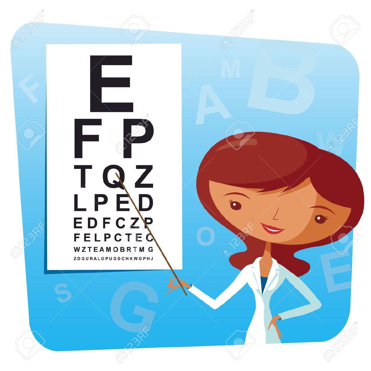 Eye Testing Optometrist Cliparts.