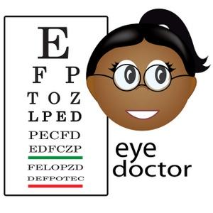 Eye doctor clip art.