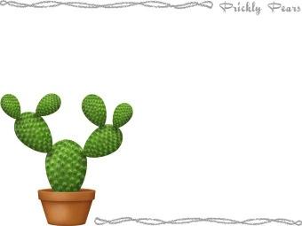 Prickly Pear (Opuntia) clipart / Free clip art.