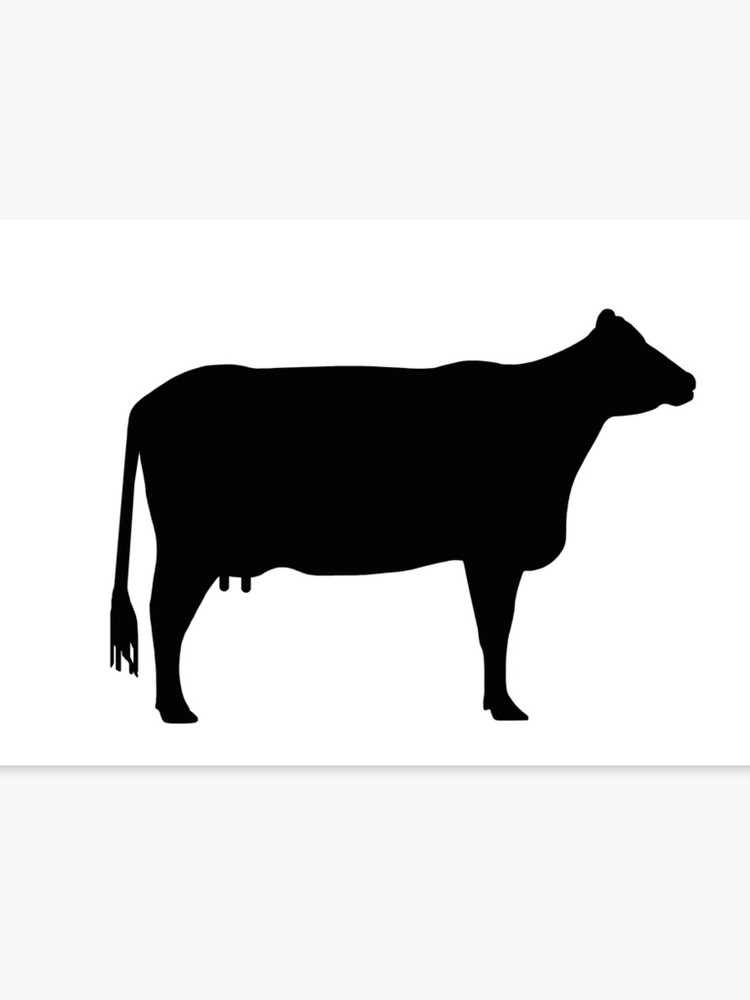 Cow silhouette as sign or clipart.