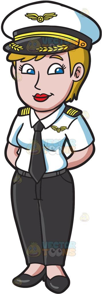 Clipart pilot woman.