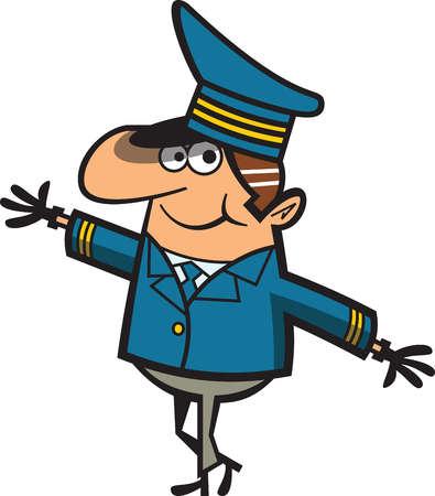 Cartoon Pilot Clipart.