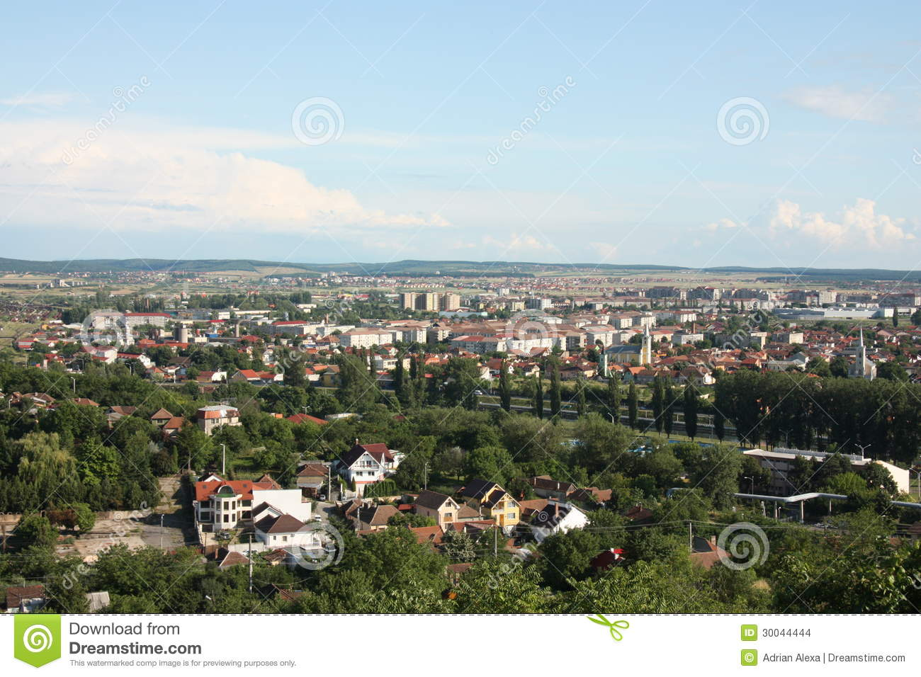 General City Aerial View Of Oradea Stock Images.