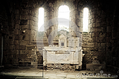 The Church At Oradour Sur Glane, France Stock Images.