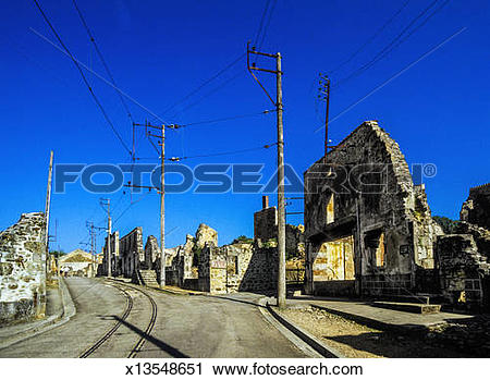 Stock Photography of Oradour.