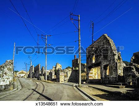 Stock Photography of Oradour.