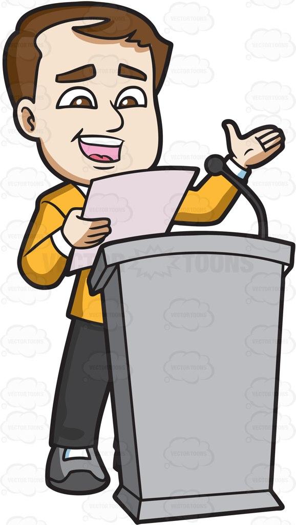 Clipart oral presentation.