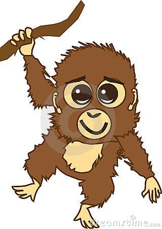 Baby Orangutan Clipart.