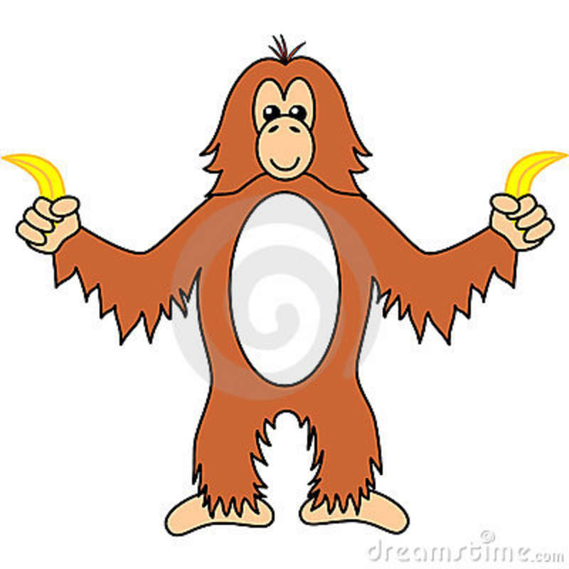 Cartoon Orangutan.