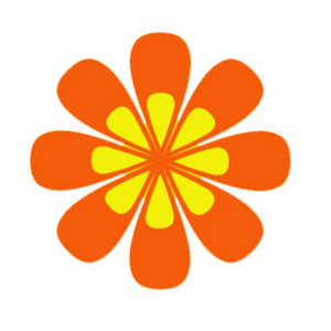 Clipart Picture of an Orange and Yellow Flower.
