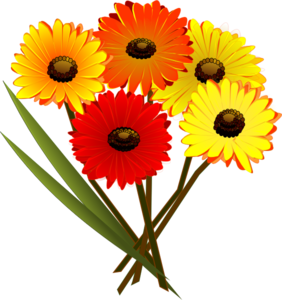 Red Orange Yellow Flowers Clip Art at Clker.com.