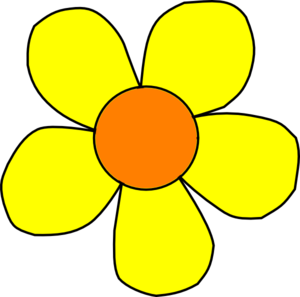 Orange And Yellow Flower Nonshaded Clip Art at Clker.com.