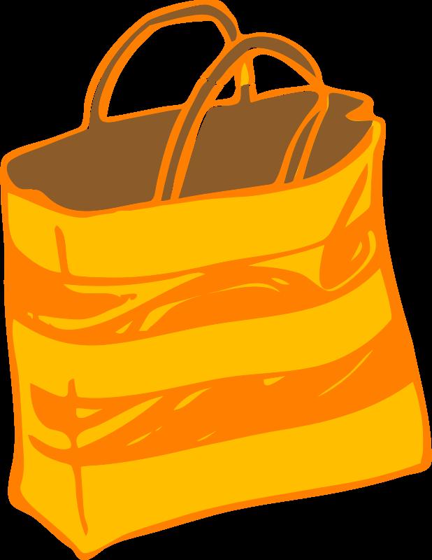 Free Orange Bag Clip Art.