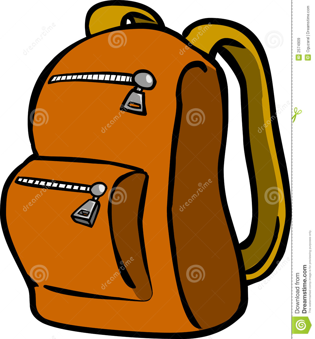 Book Bag With Food Clipart.