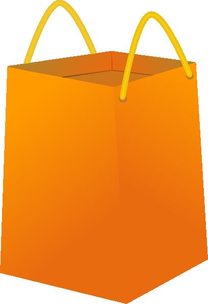 Orange Shopping Bags Clipart.