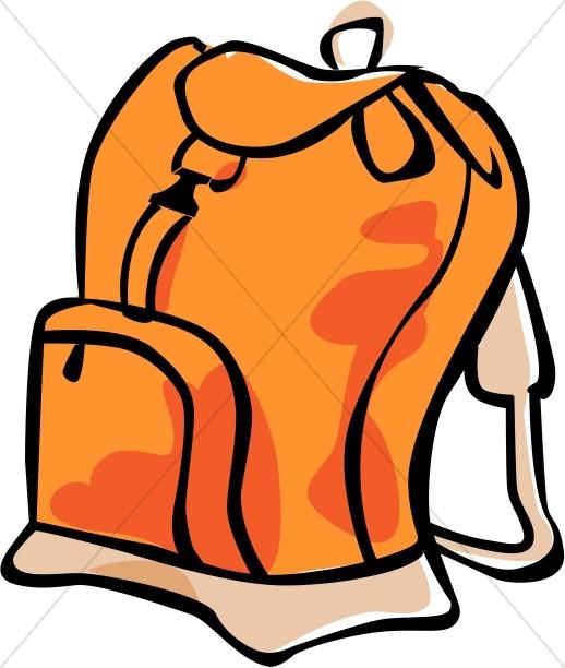 Orange Book Bag #nCW7fZ.