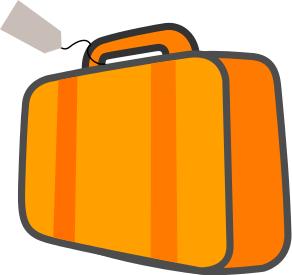 Bag W Ticket Orange Clip Art Download.