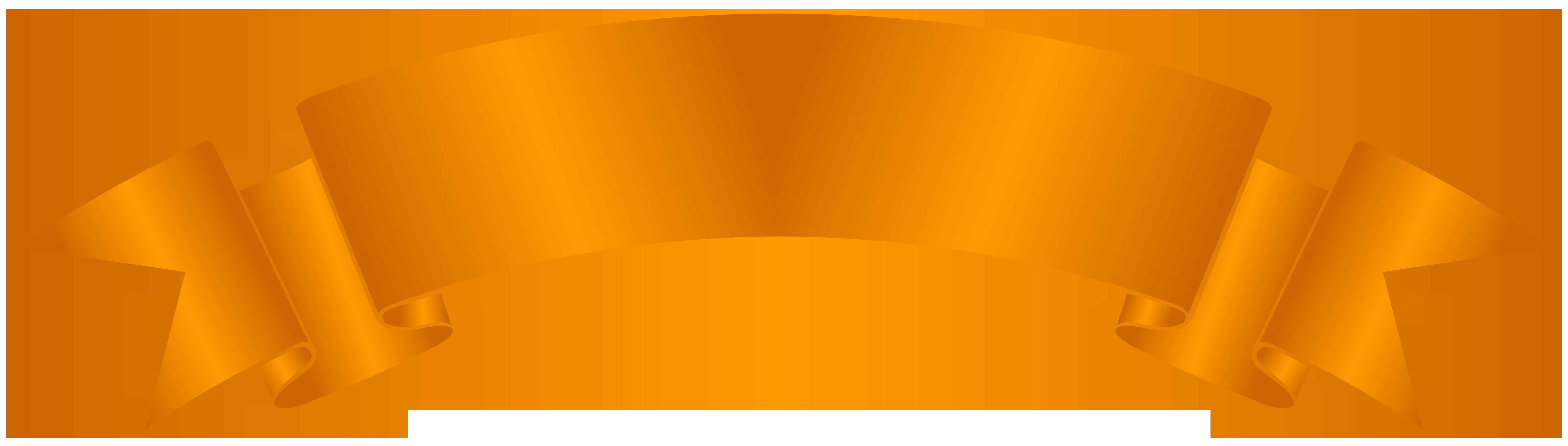 Orange Banner Clip Art PNG Image.