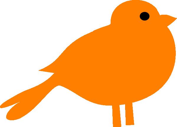 Little Orange Bird Clip Art at Clker.com.