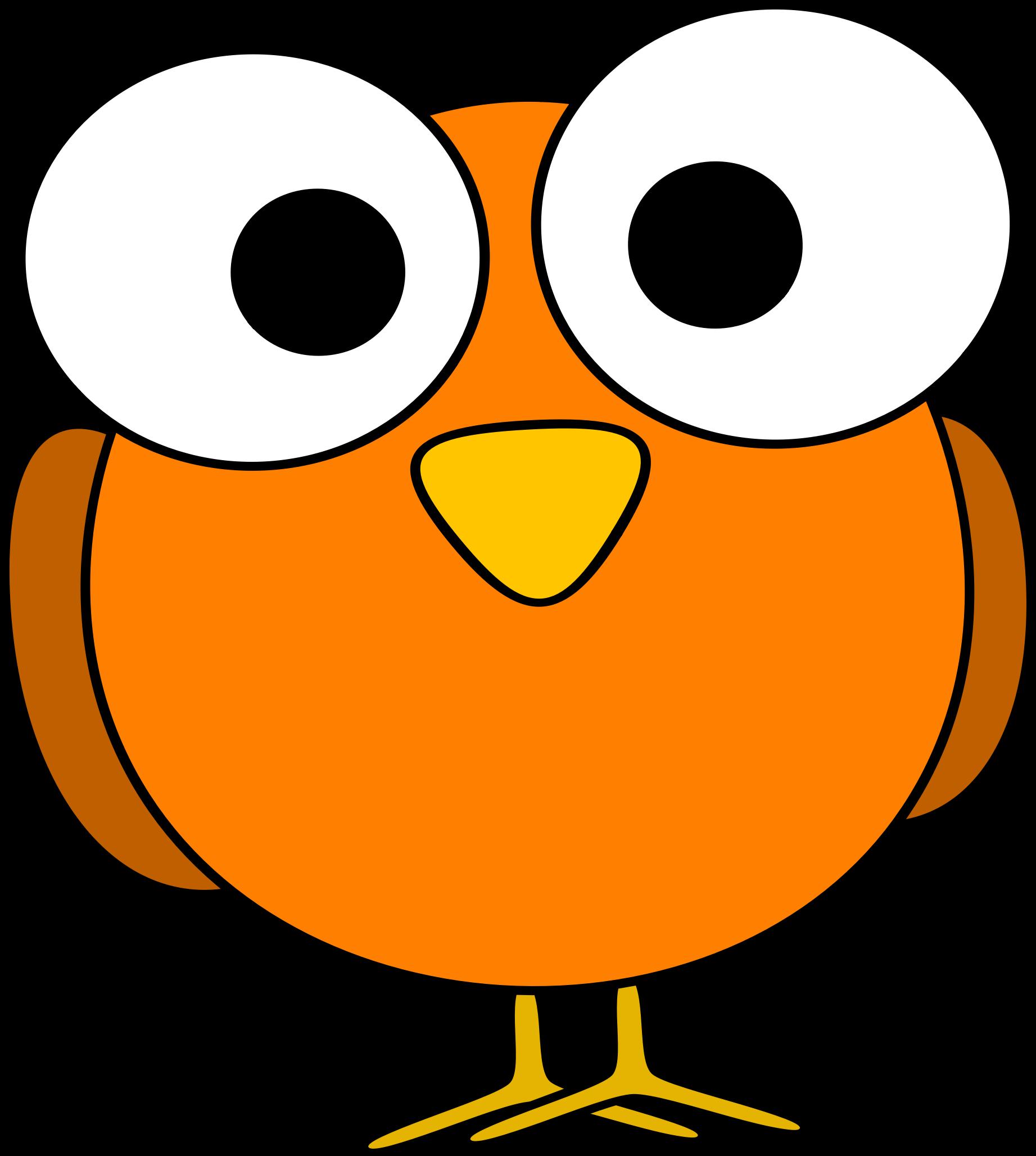Orange bird clipart kid.