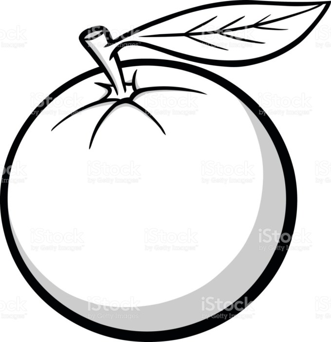 Orange fruit clipart black and white 5 » Clipart Station.