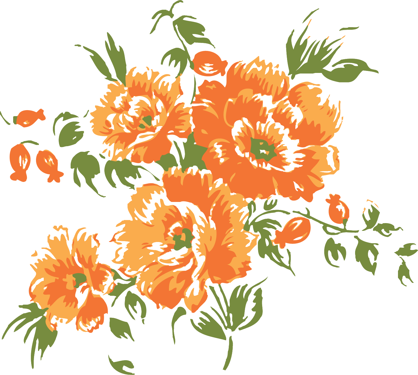 Flower Orange blossom Clip art.