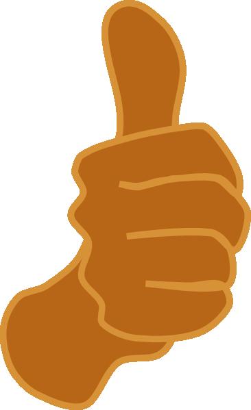Thumbs Up Brown Clip Art at Clker.com.