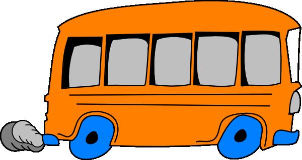 Orange School Bus clip art.