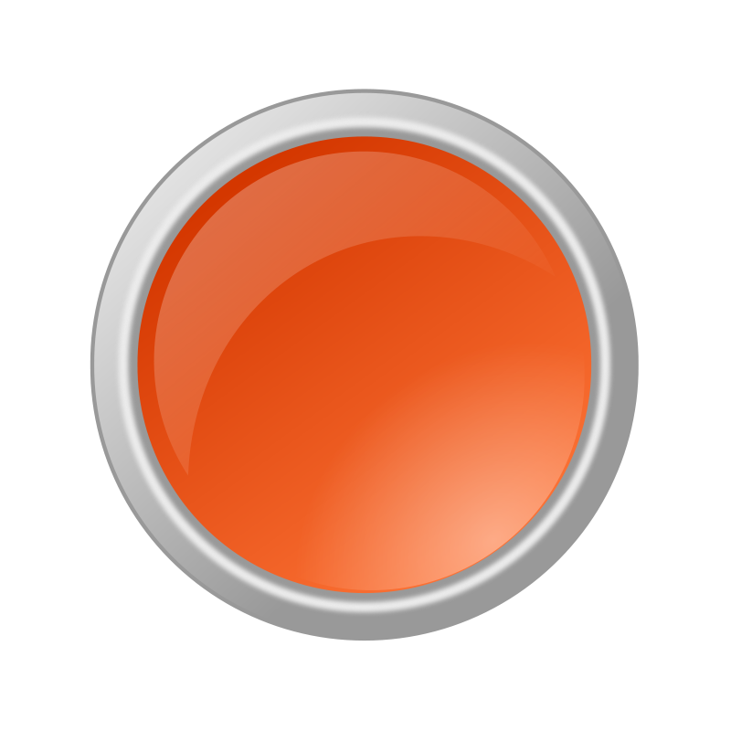 Free Clipart: Glossy Orange Button.