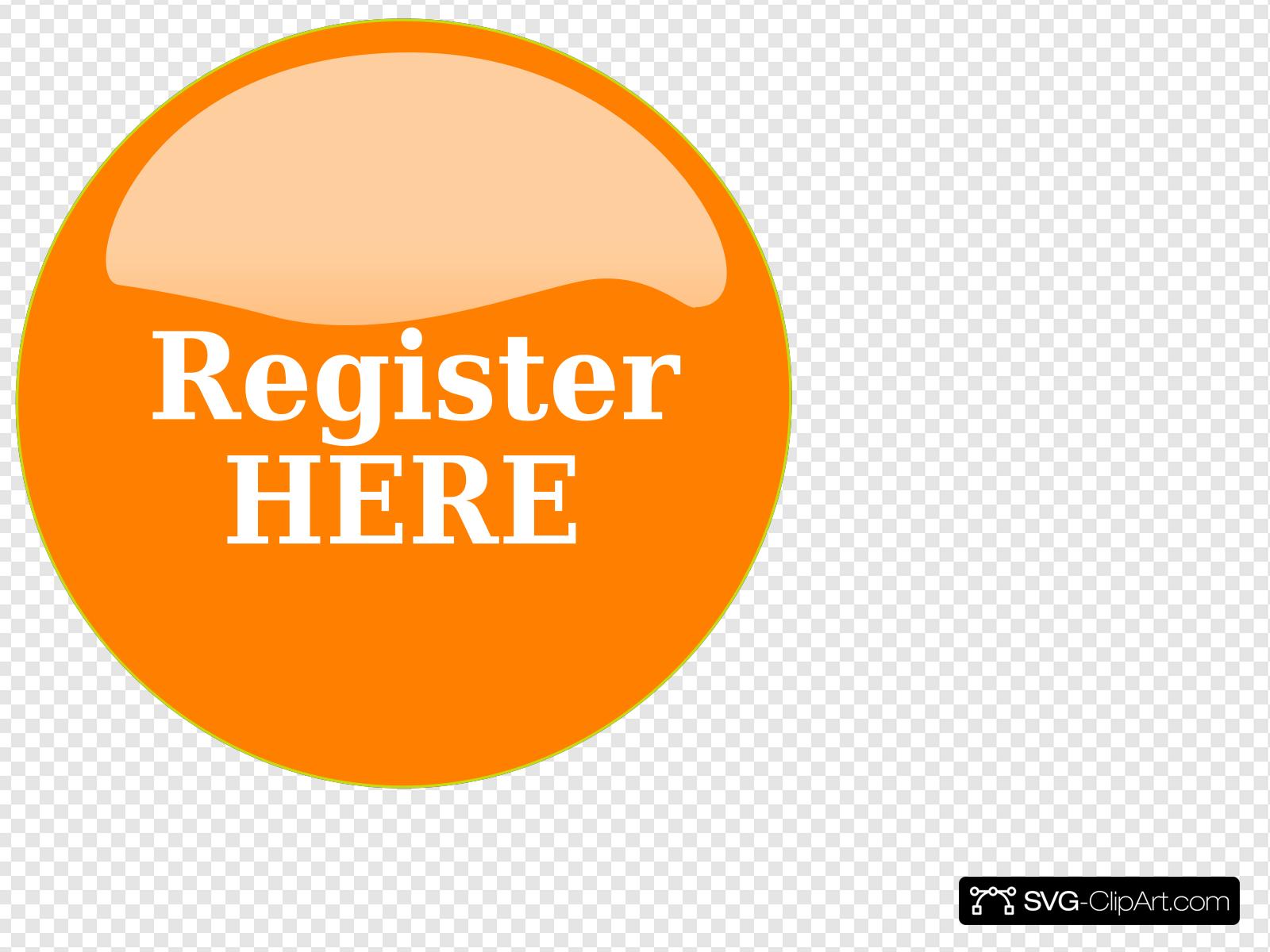 Orange Button Clip art, Icon and SVG.