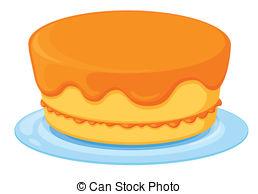 Orange Cake Clipart.