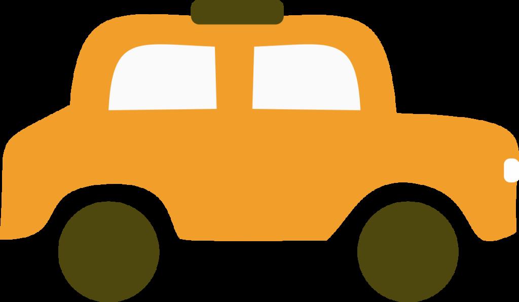 Orange Old Car Clipart.