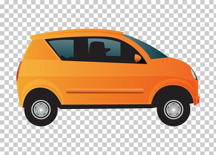 Compact car Motors Corporation , Orange car, orange car.
