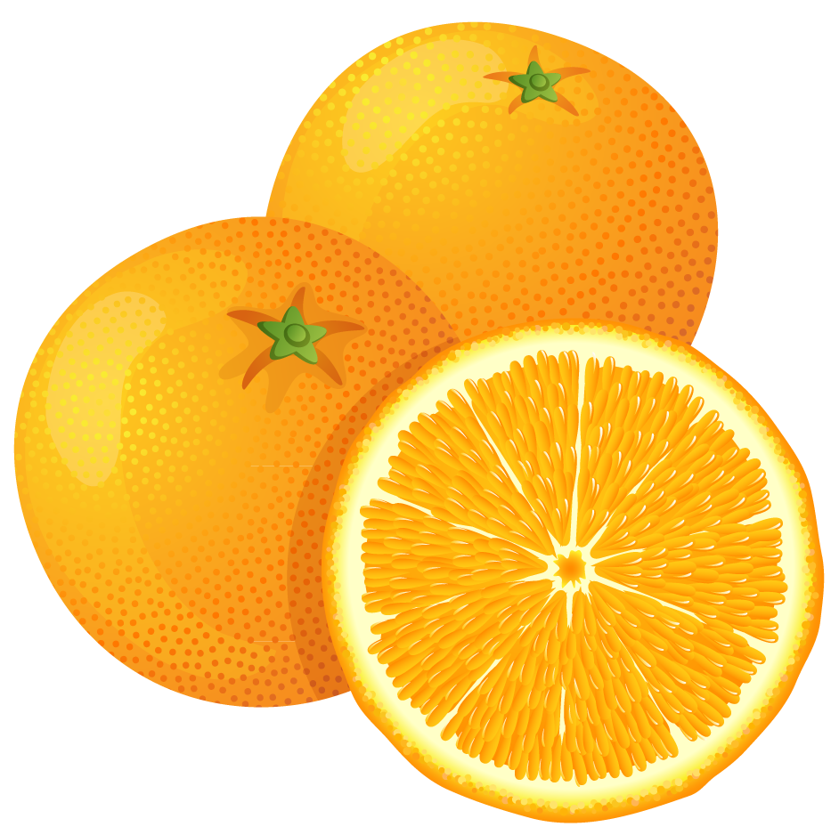 Large Painted Orange PNG Clipart.