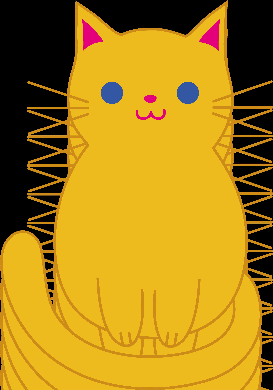 Fat Cat Clip Art.