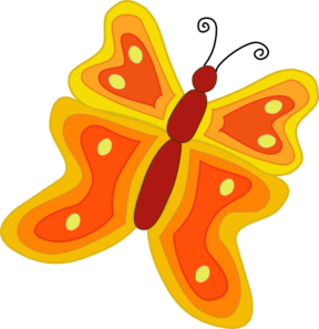 Caterpillar Butterfly Clipart.