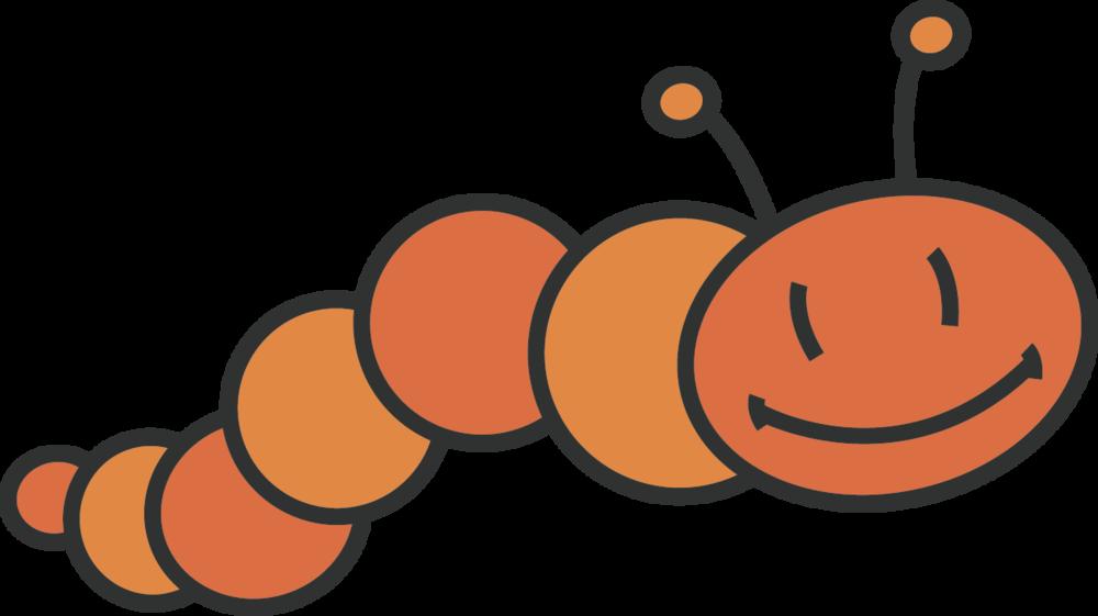 Orange Caterpillar.