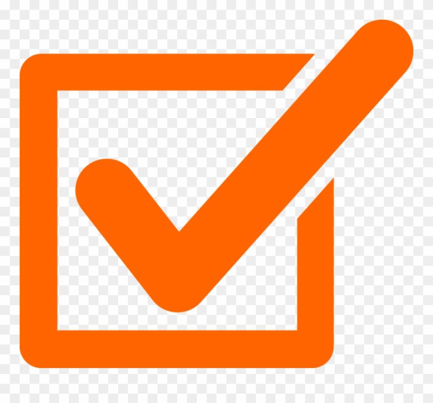 Orange Checkmark Clipart Check Mark Clip Art.