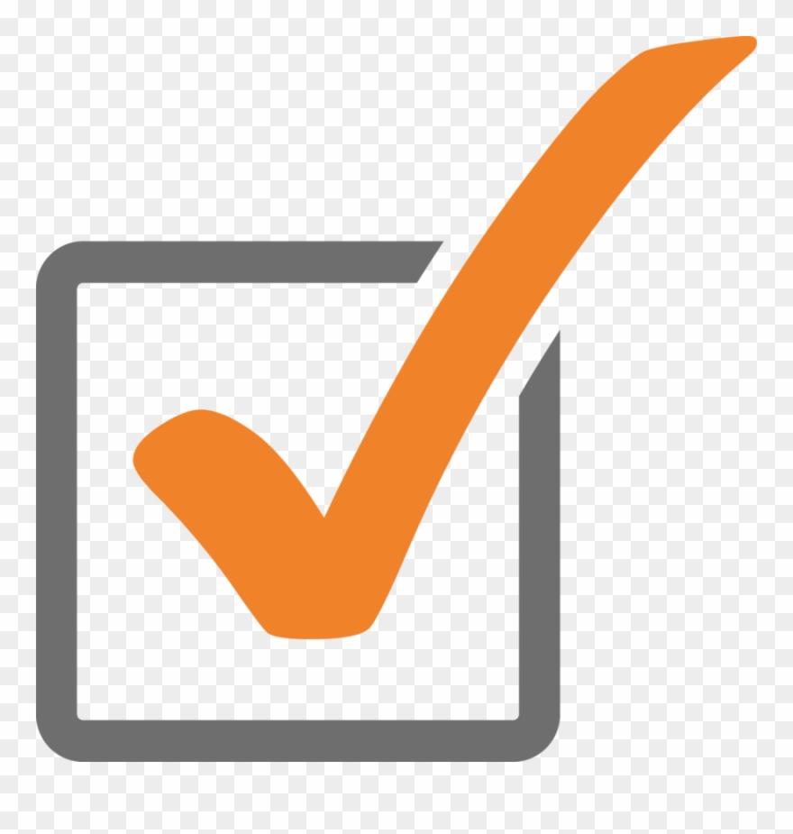 Tick Icon Orange Clipart Check Mark Computer Icons.