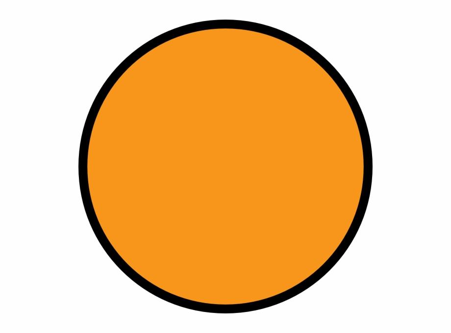 Orange Circle With Black Outline.
