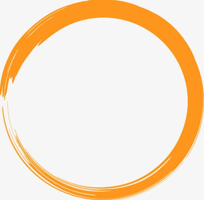 Painted Orange Circle PNG, Clipart, Circle Clipart.
