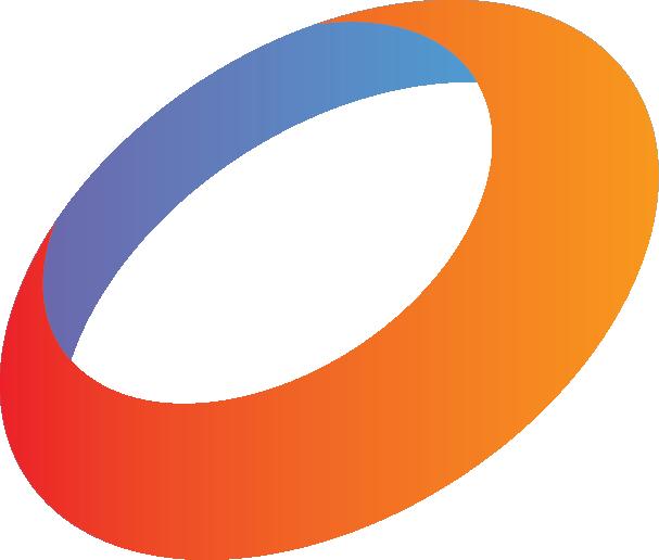 Red Orange Blue Circle Ring Logo.