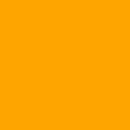 Orange circle outline icon.