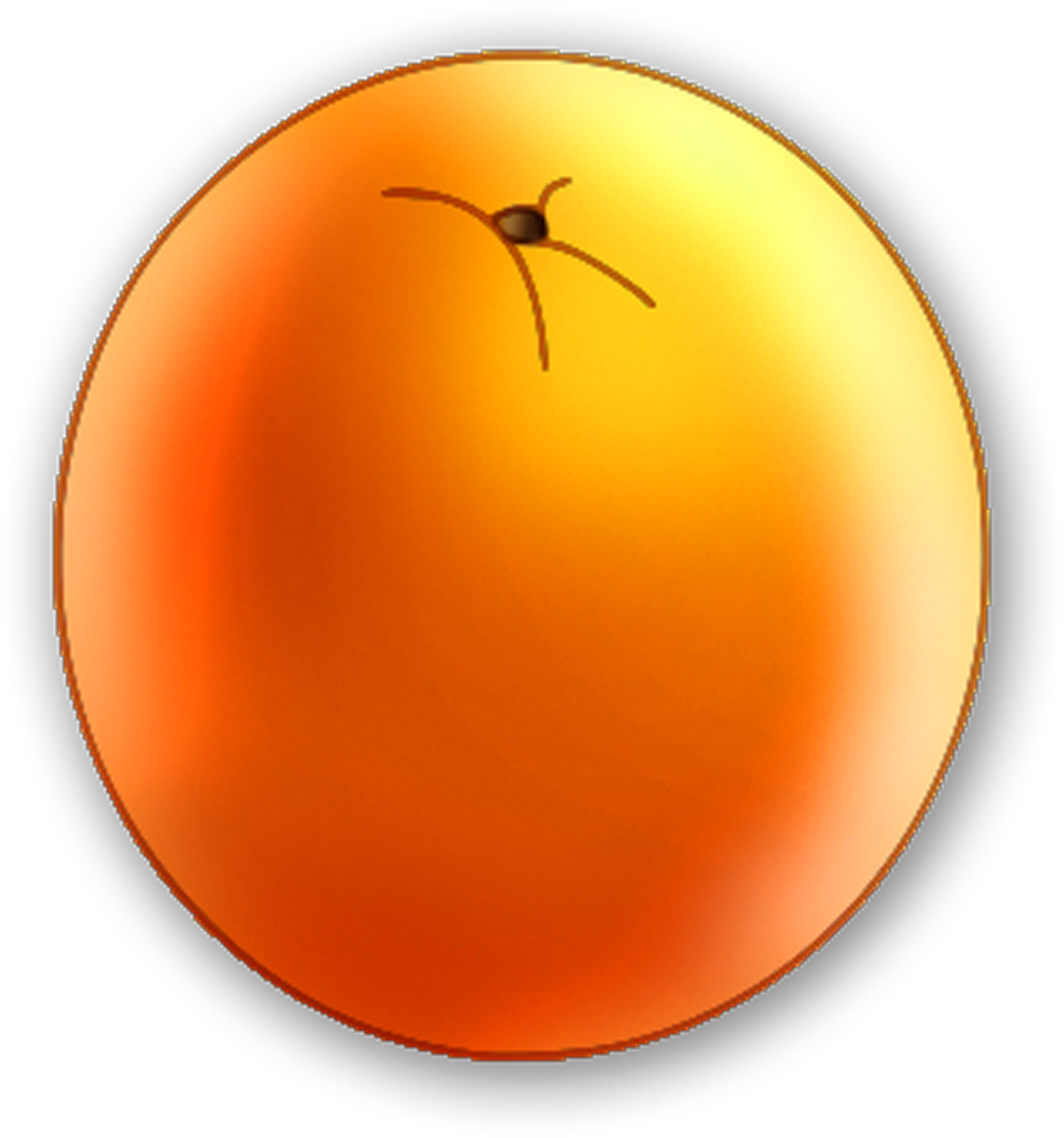 Orange fruit clipart.
