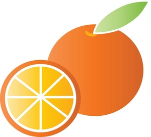 Orange Clipart Black And White.