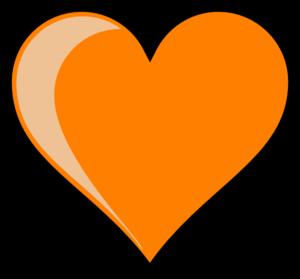 Orange heart clipart kid.