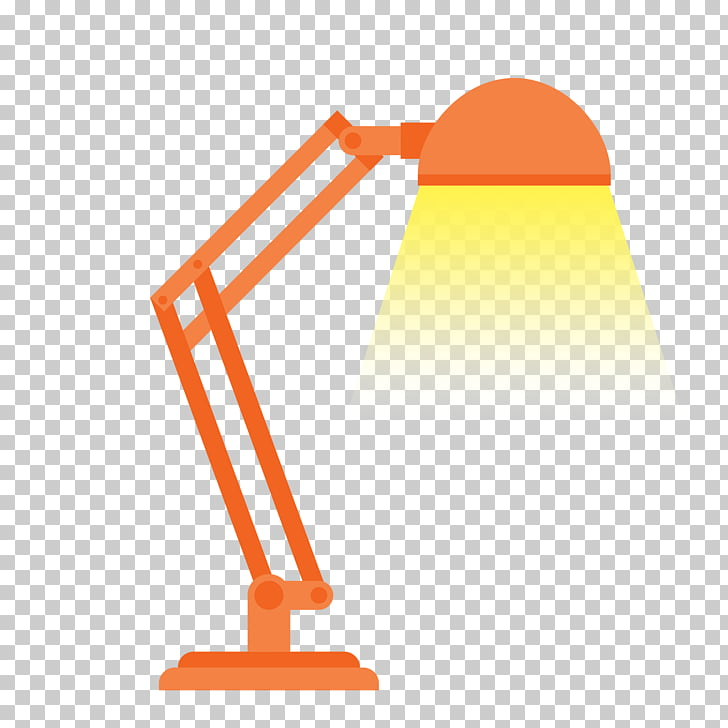 Light Lampe de bureau, orange lamp PNG clipart.